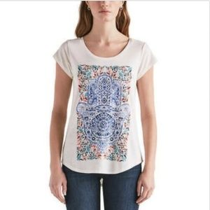 Lucky Brand Ladies' Graphic Tee, White, Size M,